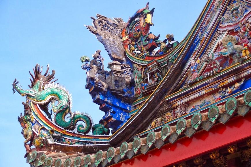المعبد الصيني كوة  في جزيرة بينانج بماليزيا