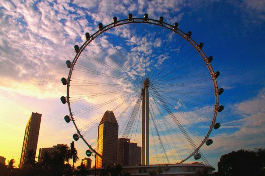 سنغافورة فلاير سنغافورة, العجلة الدوارة في سنغافورة