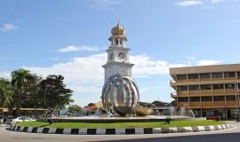برج الساعة في جزيرة بينانج بماليزيا