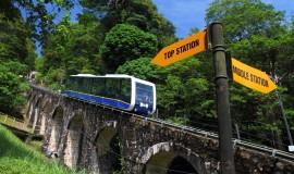 هضبة بينانج والقطار الجبلي في جزيرة بينانج بماليزيا